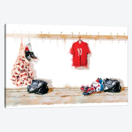Football II Canvas Print #MNS18} by The Macneil Studio Canvas Print