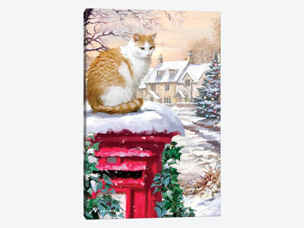 Cat On Postbox by The Macneil Studio 1-piece Canvas Art