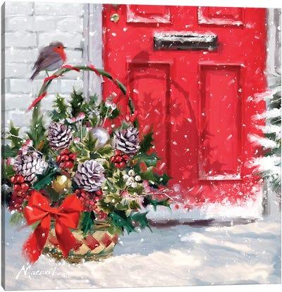 Christmas Basket Canvas Art Print
