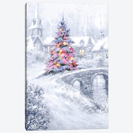 Christmas Bridge Canvas Print #MNS213} by The Macneil Studio Canvas Artwork