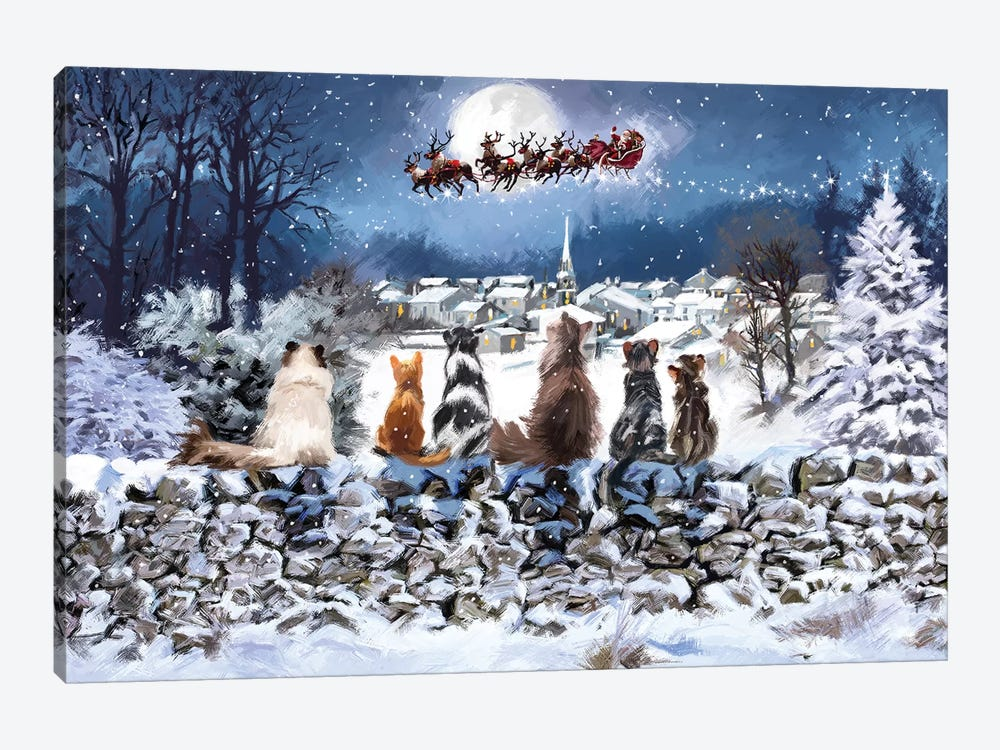 Christmas Cats by The Macneil Studio 1-piece Canvas Print