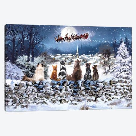 Christmas Cats Canvas Print #MNS214} by The Macneil Studio Canvas Print