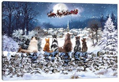 Christmas Cats Canvas Art Print