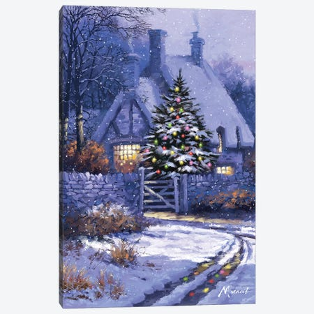 Christmas Cottage Canvas Print #MNS218} by The Macneil Studio Canvas Art