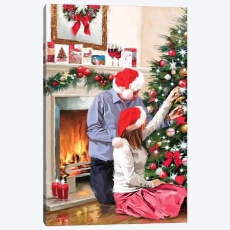 Christmas Couple Canvas Print #MNS219} by The Macneil Studio Canvas Art