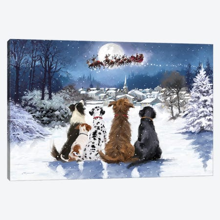 Christmas Dogs Canvas Print #MNS220} by The Macneil Studio Canvas Print