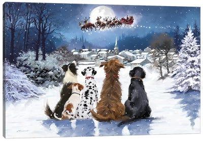 Christmas Dogs Canvas Art Print