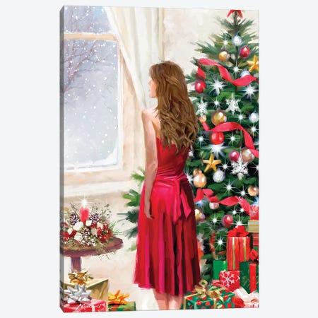 Christmas Dress Canvas Print #MNS221} by The Macneil Studio Canvas Print