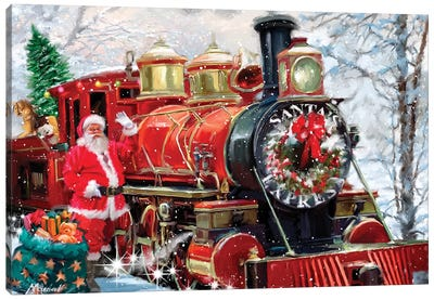 Christmas Express Canvas Art Print