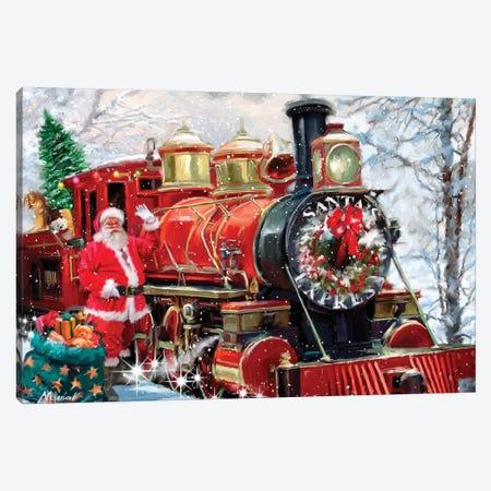 Christmas Express Canvas Print #MNS224} by The Macneil Studio Canvas Wall Art