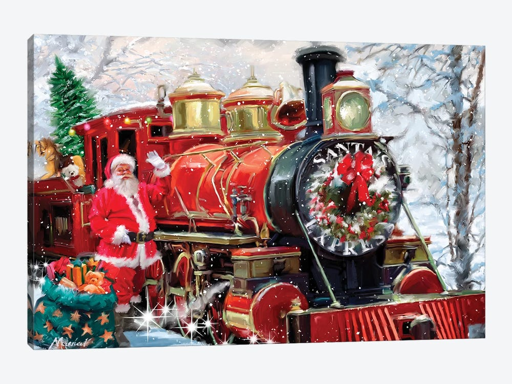 Christmas Express by The Macneil Studio 1-piece Canvas Art