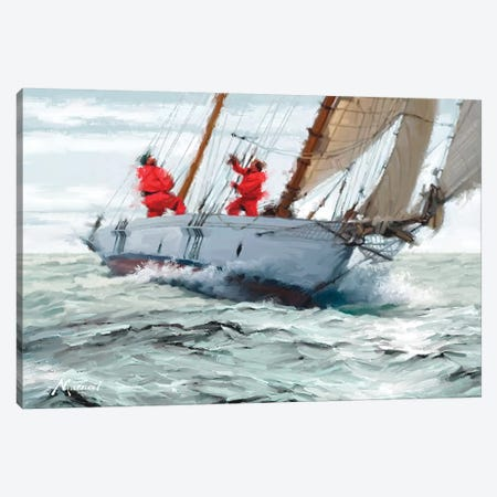 Racing Yacht 3-Piece Canvas #MNS22} by The Macneil Studio Canvas Wall Art