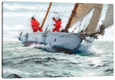 Racing Yacht Canvas Art Print