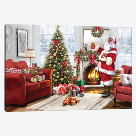 Christmas Interior II Canvas Print #MNS231} by The Macneil Studio Canvas Artwork
