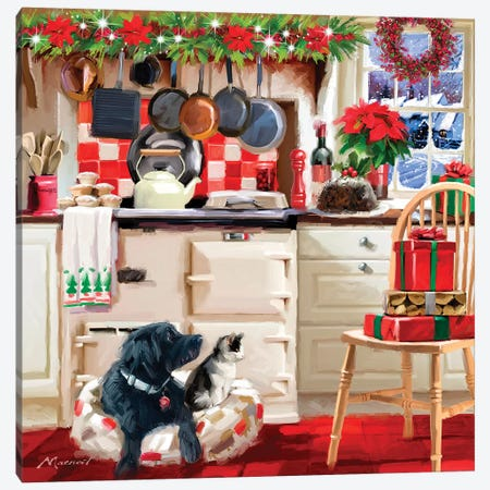 Christmas Kitchen I Canvas Print #MNS234} by The Macneil Studio Canvas Print