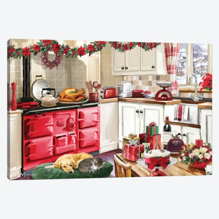 Christmas Kitchen II Canvas Print #MNS235} by The Macneil Studio Canvas Print