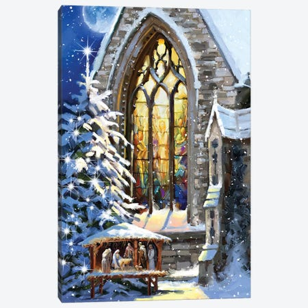 Christmas Manger Canvas Print #MNS239} by The Macneil Studio Canvas Artwork