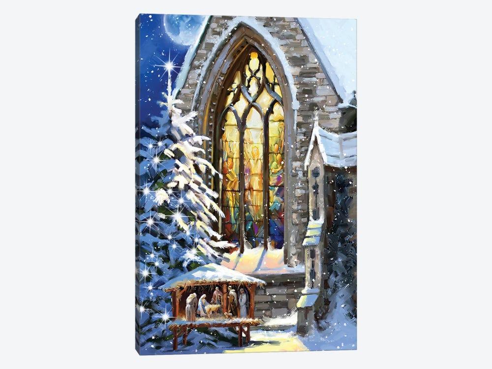 Christmas Manger by The Macneil Studio 1-piece Canvas Artwork