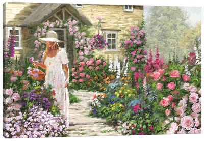 Cottage Garden Canvas Art Print