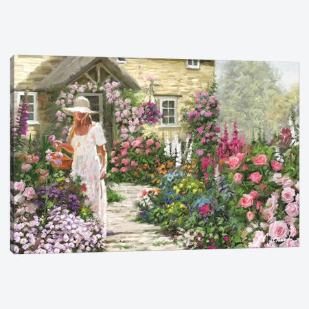 Cottage Garden Canvas Print #MNS23} by The Macneil Studio Canvas Wall Art