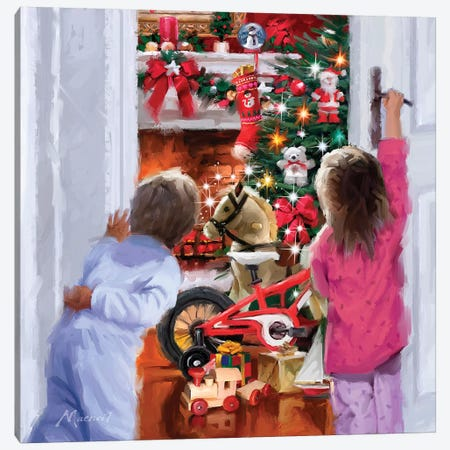 Christmas Morning Canvas Print #MNS240} by The Macneil Studio Canvas Print