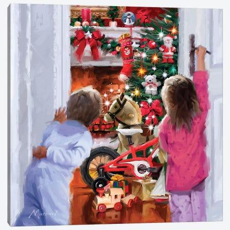 Christmas Morning Canvas Print #MNS240} by The Macneil Studio Canvas Print