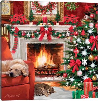 Christmas Pets Canvas Art Print