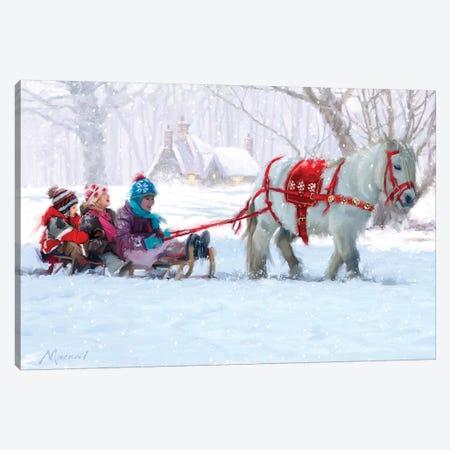 Christmas Pony Ride Canvas Print #MNS242} by The Macneil Studio Art Print