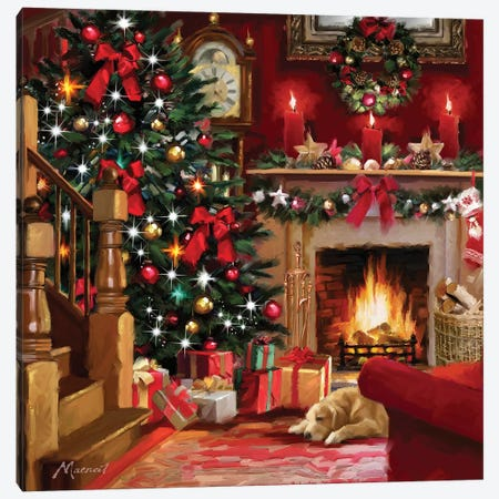 Christmas Room II Canvas Print #MNS244} by The Macneil Studio Canvas Artwork