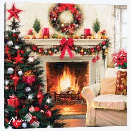 Christmas Room III Canvas Print #MNS245} by The Macneil Studio Canvas Artwork