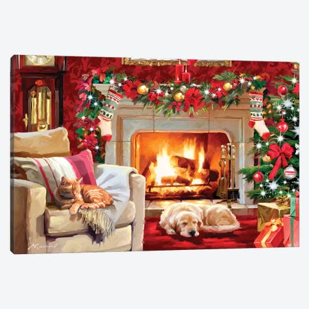 Christmas Room IV Canvas Print #MNS246} by The Macneil Studio Canvas Art