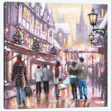 Christmas Shoppers Canvas Print #MNS248} by The Macneil Studio Canvas Print