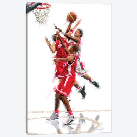 Basketball Canvas Print #MNS24} by The Macneil Studio Art Print