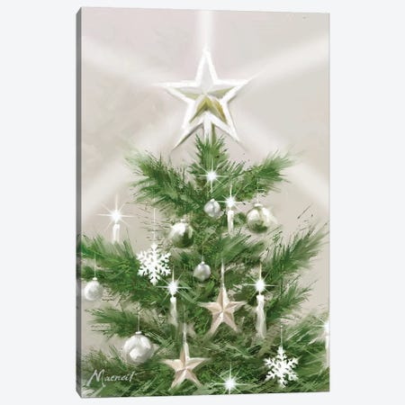 Christmas Star Canvas Print #MNS253} by The Macneil Studio Canvas Wall Art