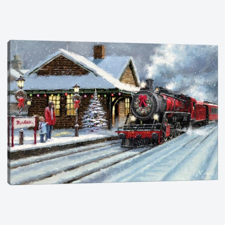 Christmas Station Canvas Print #MNS254} by The Macneil Studio Canvas Print