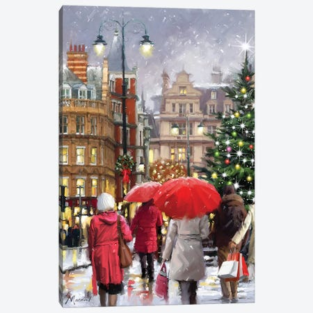 Christmas Town Canvas Print #MNS256} by The Macneil Studio Canvas Art Print