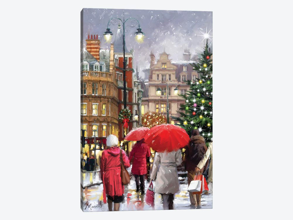 Christmas Town by The Macneil Studio 1-piece Canvas Print