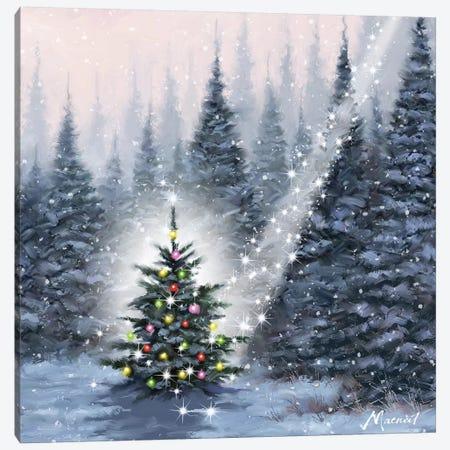 Christmas Tree Canvas Print #MNS257} by The Macneil Studio Art Print
