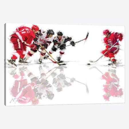 Ice Hockey Canvas Print #MNS25} by The Macneil Studio Canvas Art Print