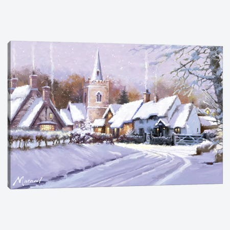 Christmas Village I Canvas Print #MNS260} by The Macneil Studio Art Print