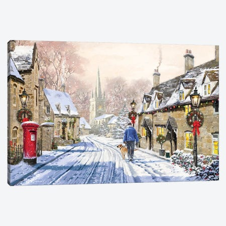 Christmas Village II Canvas Print #MNS261} by The Macneil Studio Canvas Print