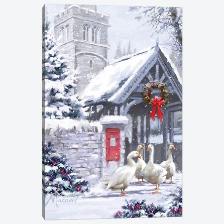Church Geese Canvas Print #MNS269} by The Macneil Studio Art Print