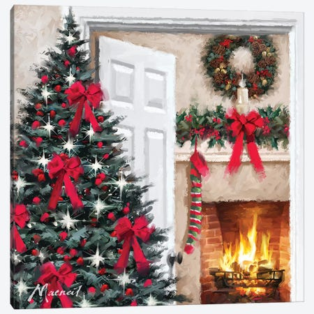 Cosy Fire Canvas Print #MNS271} by The Macneil Studio Canvas Artwork