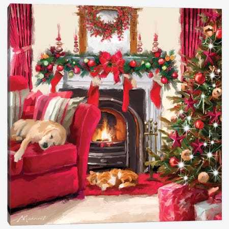 Cosy Pets Canvas Print #MNS273} by The Macneil Studio Canvas Wall Art