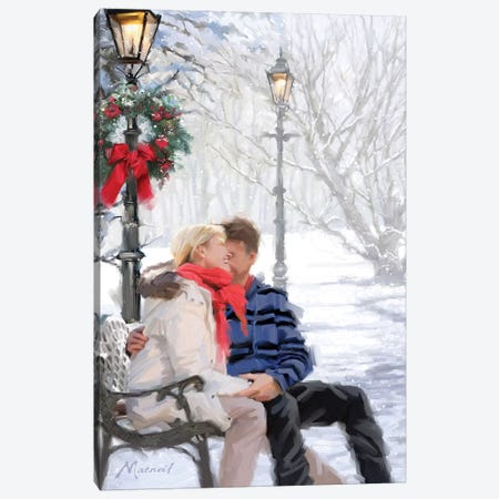 Couple On Snowybench Canvas Print #MNS283} by The Macneil Studio Canvas Print