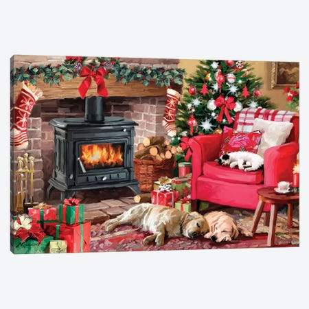 Cozy Christmas Canvas Print #MNS289} by The Macneil Studio Canvas Art Print