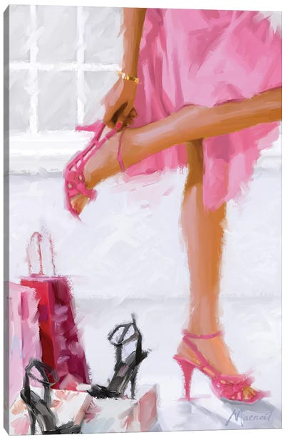 Pink Shoes Canvas Art Print