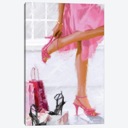 Pink Shoes 3-Piece Canvas #MNS28} by The Macneil Studio Canvas Wall Art