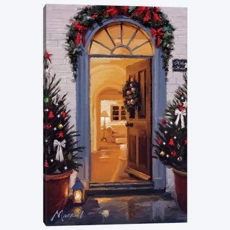 Decorated Door Canvas Print #MNS291} by The Macneil Studio Canvas Art