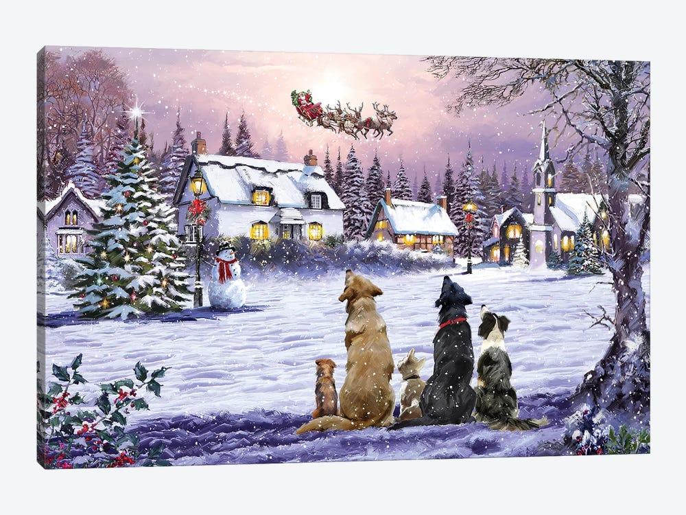 Dogs Watching Santa II by The Macneil Studio 1-piece Canvas Art
